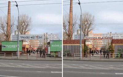 Ikonické trhovisko Miletičova špatia billboardy, ktoré mali zmiznúť po konci roku 2019. Firmy na nich stále zarábajú
