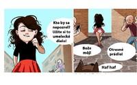 Ilustrace, ve kterých se najde každá průměrná žena. Tvé vlasy ti v noci utíkají a pizza tě nikdy neopustí