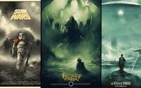 Ilustrátorovi se podařilo vytvořit velmi povedené alternativní plakáty ke známým filmům