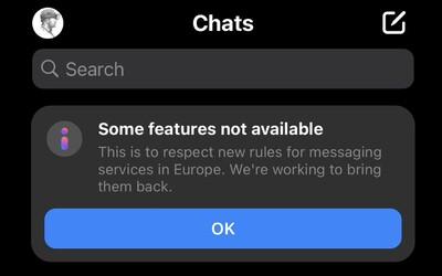 Instagram a Messenger majú v Európe vypnuté niektoré funkcie. Nálepky, prezývky či album zdieľaných fotografií nenájdeš