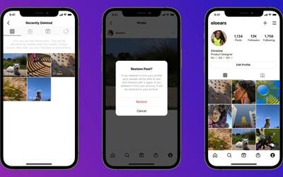 Instagram bude mít koš. Od teď budeš moci obnovit smazané fotografie