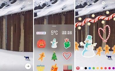 Instagram je opět blíže k Snapchatu. Ve Stories nově najdeme už i nabídku nálepek