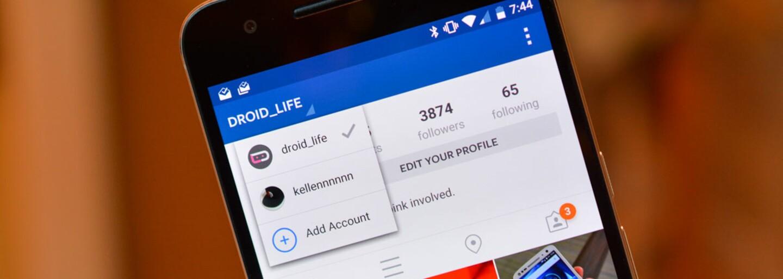 Instagram konečně umožňuje přecházení mezi různými účty
