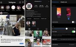 Instagram přichází s parádním černým pozadím. Šetří tvé oči i baterii