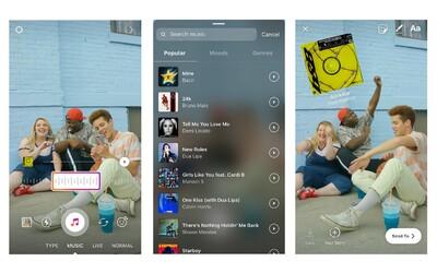 Instagram spouští funkci přidávání hudby do Stories