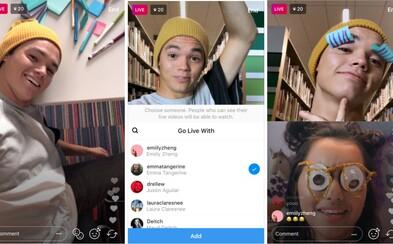 Instagram umožní pozvať do živého videa nášho kamoša. Vysielanie tak prebehne pri rozdelenej obrazovke