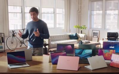 Intel je urazený, že Apple už nepoužíva ich procesory. Frustráciu si vybíja na reklame so slávnou tvárou Applu