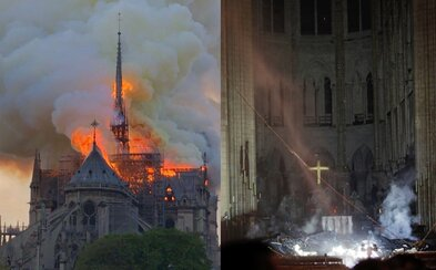 Interiér katedrály Notre Dame ničivý požiar prežil, naznačujú prvé fotky z vnútorných priestorov