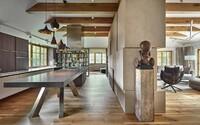 Interiér snov v honosnej vile na predmestí Prahy, o ktorý sa postarali slovenskí architekti