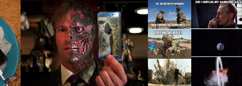 Internet se baví nad ukončením prodeje Samsungu Galaxy Note 7. Vybuchující zařízení získalo nečekanou popularitu