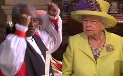 Internet sa zabáva na vtipnom biskupovi z kráľovskej svadby. Prudké pohyby a bláznivé výrazy tváre pobavili najvplyvnejších hostí