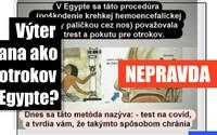 Internetom sa šíri hoax: Otrokov v starom Egypte vraj týrali spôsobom, akým sa dnes testuje na COVID-19