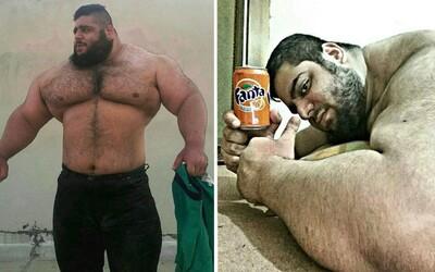Íránský Hulk váží 155 kilogramů, kašle na vyváženou stravu a používá synthol. 24letý Sajad je ale se sebou spokojený