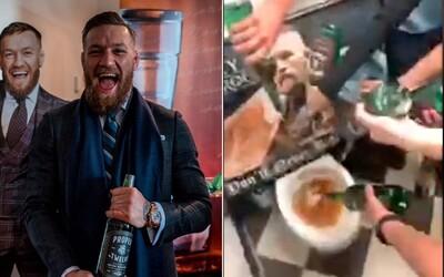 Irové lijí whiskey Conora McGregora do záchodu. Přesně tam patří, nechtějí s ním mít nic společného, tvrdí