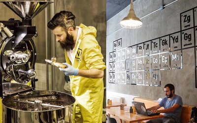 Istanbulská kavárna se inspirovala seriálem Breaking Bad. Obslouží tě v ochranných oblecích a kávu si vypiješ z odměrky