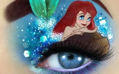 Izraelská make-up artistka vnáša do svojej tvorby kus fantázie. Na očné viečka maľuje scény z rozprávok