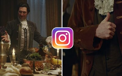 Jak by to vypadalo, kdyby Instagram existoval v 18. století? IKEA si vtipnou reklamou posvítila na jeho možnou historii