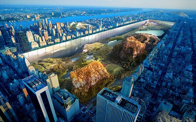 Jak by vypadal newyorský Central Park s horami a jezery? Zajímavý architektonický projekt vám to ukáže