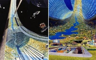 Jak si NASA představovala současnost? V roce 1975 si mysleli, že vesmírné kolonie budou každodenní realitou