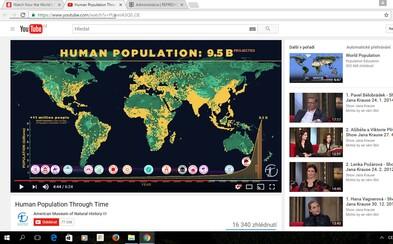 Jak vypadal vývoj populace v dějinách? Video zobrazuje nezadržitelný růst počtu lidí po celém světě