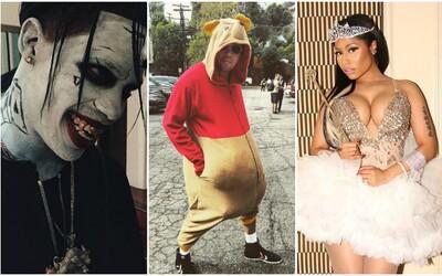 Jak zvládly známé osobnosti Halloween a kdo z nich měl nejlepší kostým?