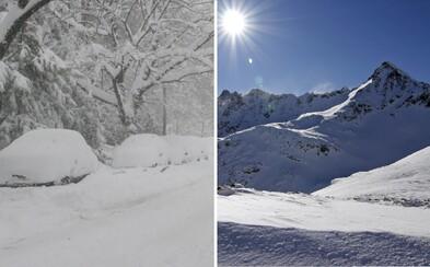 Je leto, no Tatry už prekvapila prvá snehová spúšť
