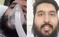 Je mu 24 let a nemá žádné zdravotní potíže. Přesto ho koronavirus dostal na JIPku
