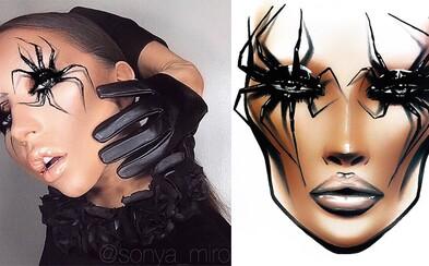 Jej Face Charty sú umeleckými dielami. Ruská vizážistka Sonya Miro spája fantáziu a talent v neuveriteľných make-up lookoch