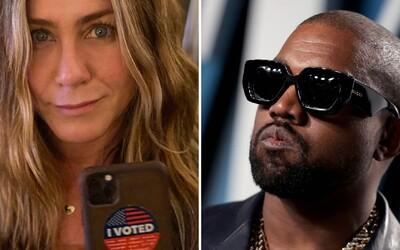 Jennifer Aniston vzkazuje fanouškům, že není vtipné hlasovat pro Kanyeho v prezidentských volbách