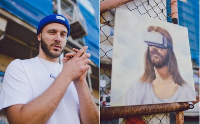 Ježíš s virtuální realitou na očích. Nejhlubší umělecký hudební projekt roku patří Václavu Roučkovi