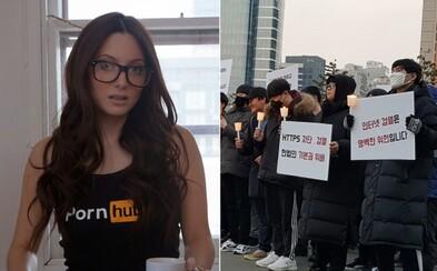 Jihokorejcům vláda zablokovala Pornhub, tak vyšli protestovat do ulic