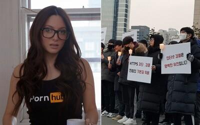 Juhokórejčanom vláda zablokovala Pornhub, tak vyšli protestovať do ulíc