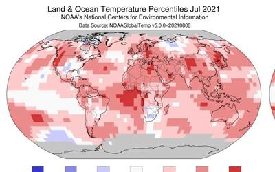 Júl 2021 bol najhorúcejším mesiacom v histórii meraní teploty