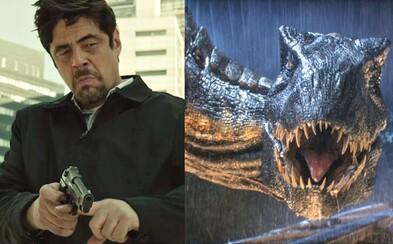 Jún v kinách ovládnu dinosaury a del Torov Alejandro v Sicario 2. Na svoje si prídu aj fanúšikovia hororov, šialených komédií a animákov