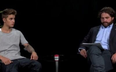 Justin Bieber na rozhovore u Zacha Galifianakisa