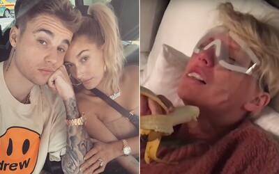 Justin Bieber si uťahuje z Taylor Swift, paroduje jej nepríčetné stavy z nemocnice. Fanúšikovia tvrdo útočia a obraňujú speváčku