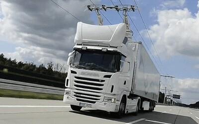 Kamiony s trolejemi: Ve Švédsku vznikla první elektrodálnice na světě