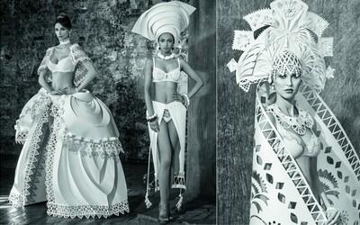 Kampaň značky spodnej bielizne je plná nádherných papierových neviest vďaka ukrajinskej umelkyni