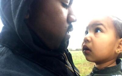 Kanye jako milující otec s dcerkou North West v klipu Only One