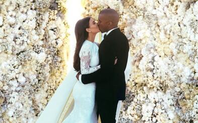 Kanye West a Kim Kardashian na svadobných fotografiách