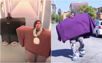 Kanye West a Lil Pump skladbou I Love It zaviedli novú tanečnú výzvu. Ľudia si na seba dávajú krabice či matrace