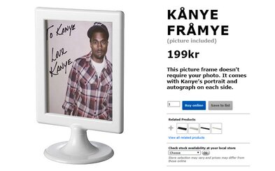 Kanye West chtěl spolupracovat s nábytkovým gigantem IKEA, dostal však výsměch i od internetu