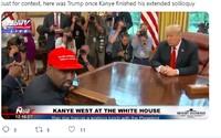 Kanye West na návštěvě u Donalda Trumpa opět perlil. V živém vysílání odhalil své heslo do mobilu