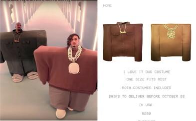Kanye West predáva výbavu na Halloween. Za 200 dolárov si môžeš kúpiť obleky z videoklipu I Love It
