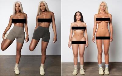 Kanye West šokoval bizarnou kampaňou pre jeho aktuálne tenisky. Väčšina modeliek je polonahá či dokonca úplne odhalená