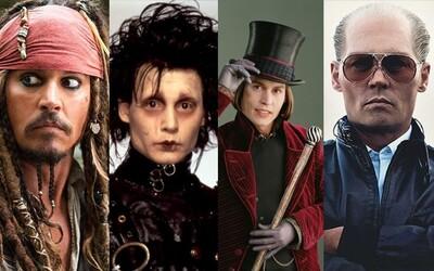 Kapitán Jack Sparrow, Nožnicovoruký Edward či Willy Wonka. Aké najčudnejšie postavy stvoril herecký chameleón Johnny Depp?