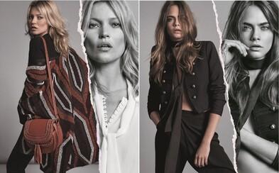 Kate Moss a Cara Delevingne ti v kolekcii na jeseň 2015 pre Mango potvrdia, že 70-te roky sú späť