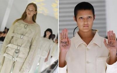 Kazajka jako móda od Gucci? Oblečení odkazující na duševní problémy je nevhodné, protestuje modelka