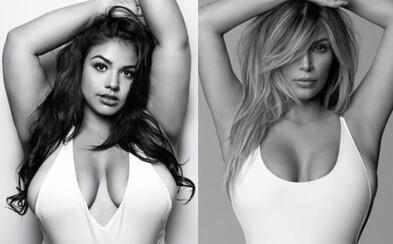 Každé telo je krásne. Plus-size modelka napodobnila fotografiu Kim Kardashian a okamžite získala podporu tisícok žien aj mužov