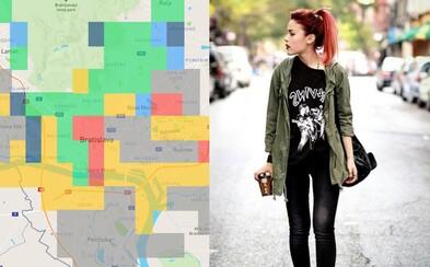 Kde v Bratislave či Košiciach žijú hipsteri alebo boháči? Úsmevná mapa ti odhalí všetko o kultúre tvojho mesta